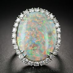 14.15 Carat Opal and Diamond Ring by Winston