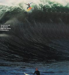Soul Surfer: 16-year old Jay Moriarty drops into history at Maverick's (1994) he is such an inspiration! I've always wanted to surf, but his story made me actually go out there and try it and now I love it