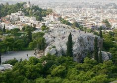 The Areopagus aka Mars Hill is a bare marble hill situated to the north-west of the Acropolis in #Athens. It is popular with travelers for its connections with a speech made by Paul the Apostle. #Greece #travel #athensattractions