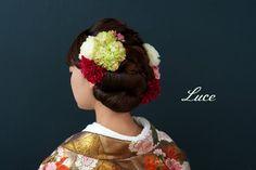 春にぴったりな華やか和装ヘアアレンジ の画像|ウェディングヘアメイクルーチェのハッピースタイル♪