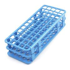 Lab Blue Plastic 60 Position 18mm Hole Test Tube Stand Rack