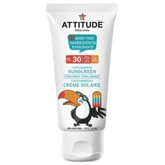 Attitude Little Ones 100% Mineral Sunscreen SPF 30. http://beautyeditor.ca/2016/06/22/best-mineral-sunscreen-for-face