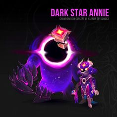Skintober's back! Damn, how I missed this event! Dark Star, Instagram Images, Instagram Posts, League Of Legends, Game Art, Annie, Character Art, Digital Art, Concept