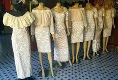 Chiffon top and skirt Island Wear, Island Outfit, New Dress Pattern, Dress Patterns, Polynesian Dresses, Samoan Dress, Samoan Designs, Island Style Clothing, Hawaiian Fashion
