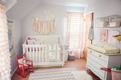 I think I've decided to go with this color scheme and style for little girls room.  Will need lots of vintage/antique bed sheets.