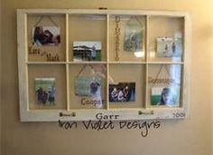 Old Windows make such great picture frames, as see on Iron Violet . Old Window Crafts, Old Window Projects, Home Projects, Window Ideas, Craft Projects, Old Frames, Window Frames, Bee Crafts, Easy Crafts