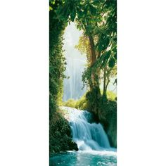 Ideal Decor 79 in. x 0.25 in. Zaragoza Falls Wall Mural-DM501 - The Home Depot