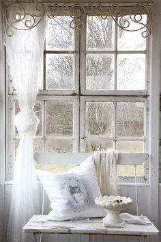 White Shabby Chic home white window rest decorate shabby chic  interior design