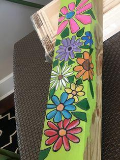 Peace poles Garden Crafts, Garden Projects, Pallet Projects, Craft Projects, Craft Ideas, Peace Pole, Garden Poles, Pole Art, Painted Sticks