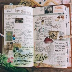Simplify life... yes to that but not when I do my planner/journal pages.