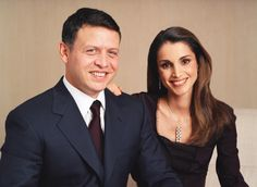 ♔♛Queen Rania of Jordan♔♛... Their Majesties the King and Queen of the Hashemite Kingdom of Jordan, 2002