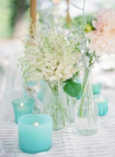 Wedding Colors - Summer Wedding - Aqua or Teal | http://www.stylemepretty.com/2012/12/11/southern-grace-styled-shoot-from-elisa-b-photography/ Elisa B Photography