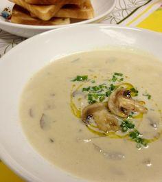 Sopa Cremosa de Cogumelos Paris Frescos