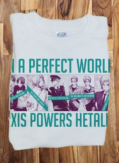Custom Fanmade Axis Powers Hetalia Italy Swizz Germany T-Shirt Tee Tshirt
