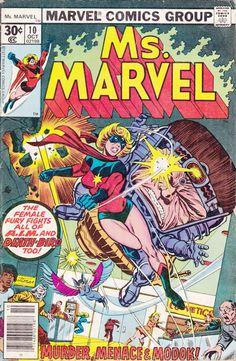 Comics - Ms. Marvel 10 -  MARVEL COMICS - Vintage Bronze Age (1978) - Starring Carol Danvers, Chris Claremont Story, Current Captain Marvel