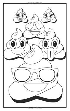 Emoji Crazy Coloring Book 30 Cute Fun Pages: For Adults, Teens and Kids Great Party Gift (Travel Size) (Officially Licensed Emoji Coloring Book Series) (Coloring Book Mini) Emoji Coloring Pages, Printable Adult Coloring Pages, Coloring Pages To Print, Coloring Sheets, Coloring Books, Coloring Worksheets, Free Worksheets, Coloring Pages For Teenagers, Smiley