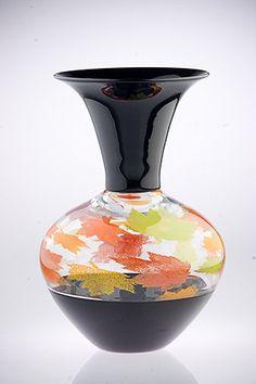 Art glass foliage vessel by KatzGlassDesign on Etsy, $550.00