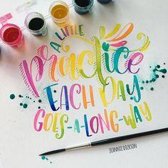 Watercolor lettering practice