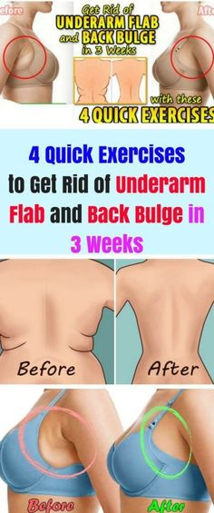 4 Quick Exercises to Get Rid of Underarm Flab and Back Bulge in 3 Weeks | Wotips