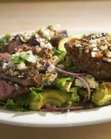 Grilled Flat-iron Steak With Avocado, Tomato, And Red Onion Salad // Emeril Lagasse