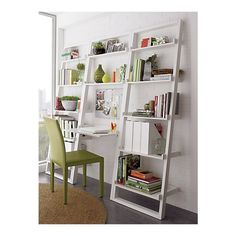 "Sloane White Leaning Desk with 2 25.5"" Bookcases ($200-500) - Svpply"