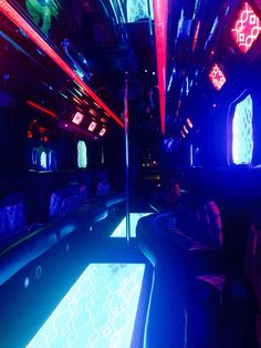 New Yorkers, turnt up! How are you spending your Friday night? How about being on a party bus? Limo Party, Night City, Nightlife, Fair Grounds, Friday, Nyc, Outfit, Room, Anime