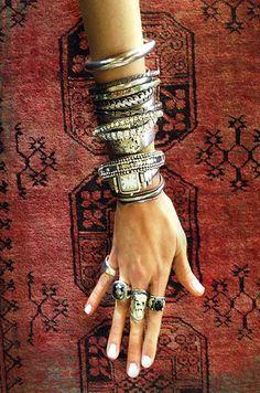 gold bracelet arm candy hippie chic