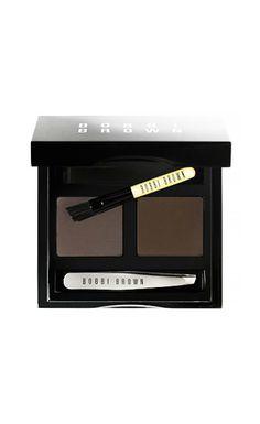 This product will help your eyebrows reach their fullest potential. // Brow Kit by Bobbi Brown Makeup Dupes, Makeup Kit, Makeup Cosmetics, Makeup Inspo, Makeup Products, Beauty Products, Dark Brows, Natural Eyebrows, Kiss Makeup