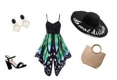 """Fly butterfly"" by sandris29 on Polyvore featuring Boohoo, Marni, black, SummerVibe, grren and buttefly"