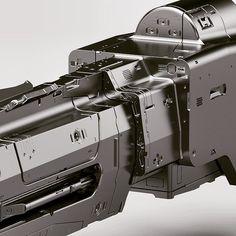 RailGun for the Black Widow Tank #blackwdow #blackphoenixproject #mech #conceptart #design #scifi #railgun #magneticcannon #vitalybulgarov by vitalybulgarov
