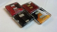 Electric Guitar and Bass Guitar Magnets  Musical by DamesCloset, $6.49