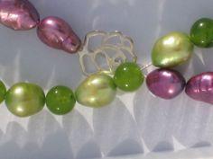 Necklace Handmade Fresh Water Pearls Purple and by KBrownJewellery, £38.00