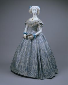 American ball gown, 1860