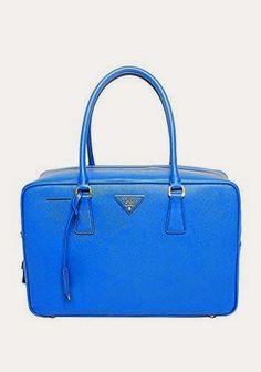 783a1b5f8ed0 Prada Womens Saffiano Lux Top Handle Bag in Blue Leather Handbag Purse  BL094F F0215 Dust Bag