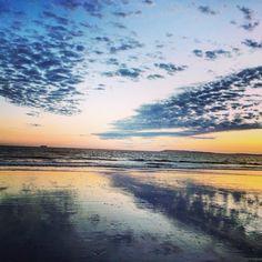Bracklesham Beach sunset low tide