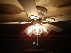change out ceiling fan light globes with clear aged ones