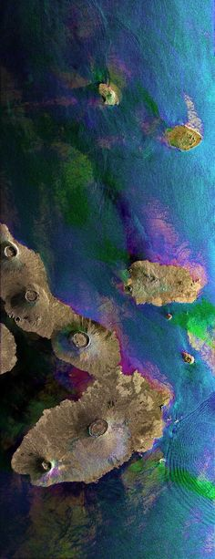 Galapagos Islands in the Pacific Ocean - taken from space Photo credits: ESA