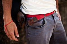 Belt, jeans, leather holder