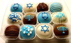 20 Hanukkah Desserts to Make the Holiday Even Sweeter Hanukkah Truffles Hanukkah Food, Hanukkah Decorations, Christmas Hanukkah, Happy Hanukkah, Hanukkah 2017, Hanukkah Recipes, Hanukkah Lights, Hanukkah Celebration, Jewish Hanukkah