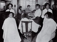 antique african american books | African American beauty parlor. Vintage postcard by Photomatika