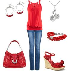 Oh how I wish I could wear red!