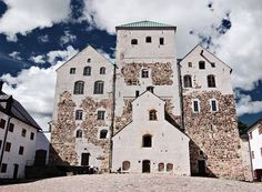 Turku Castle - Finland Love the stonework and silhouette shape. Lappland, Beautiful Buildings, Beautiful Places, Cool Places To Visit, Places To Go, Turku Finland, Finland Travel, Finland Trip, Castles To Visit