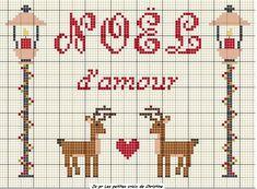 Xmas Love.... so cute reindeers! awww, I need to stitch this. Enjoy freebie xox