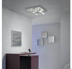 Escale Spot It LED-Deckenleuchte Quadrat