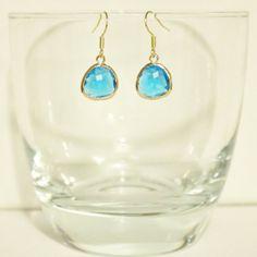 Items similar to Capri Blue Glass Framed Pendant Earrings on Etsy Pendant Earrings, Drop Earrings, Capri Blue, Gems, Pendants, Trending Outfits, Elegant, Unique Jewelry, Handmade Gifts