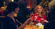 """The Dinner"" movie still, L to R: Rebecca Hall, Laura Linney. Rebecca Hall, Laura Linney, Alcoholic Drinks, Dinner, Movies, Dining, Films, Food Dinners, Liquor Drinks"