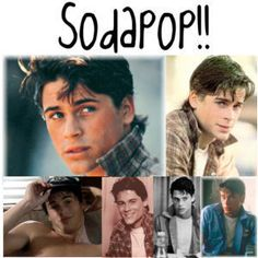 Sodapop Curtis from The Outsiders! My favorite book when I was a kid. I love Soda! The Outsiders Sodapop, Die Outsider, Nothing Gold Can Stay, Stay Gold, Dallas Winston, Ralph Macchio, Matt Dillon, Rob Lowe, Great Movies