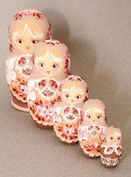 Vintage Babushkas Nesting Doll Set