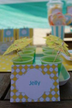 pool party jelly cups
