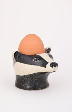 Badger face egg cup
